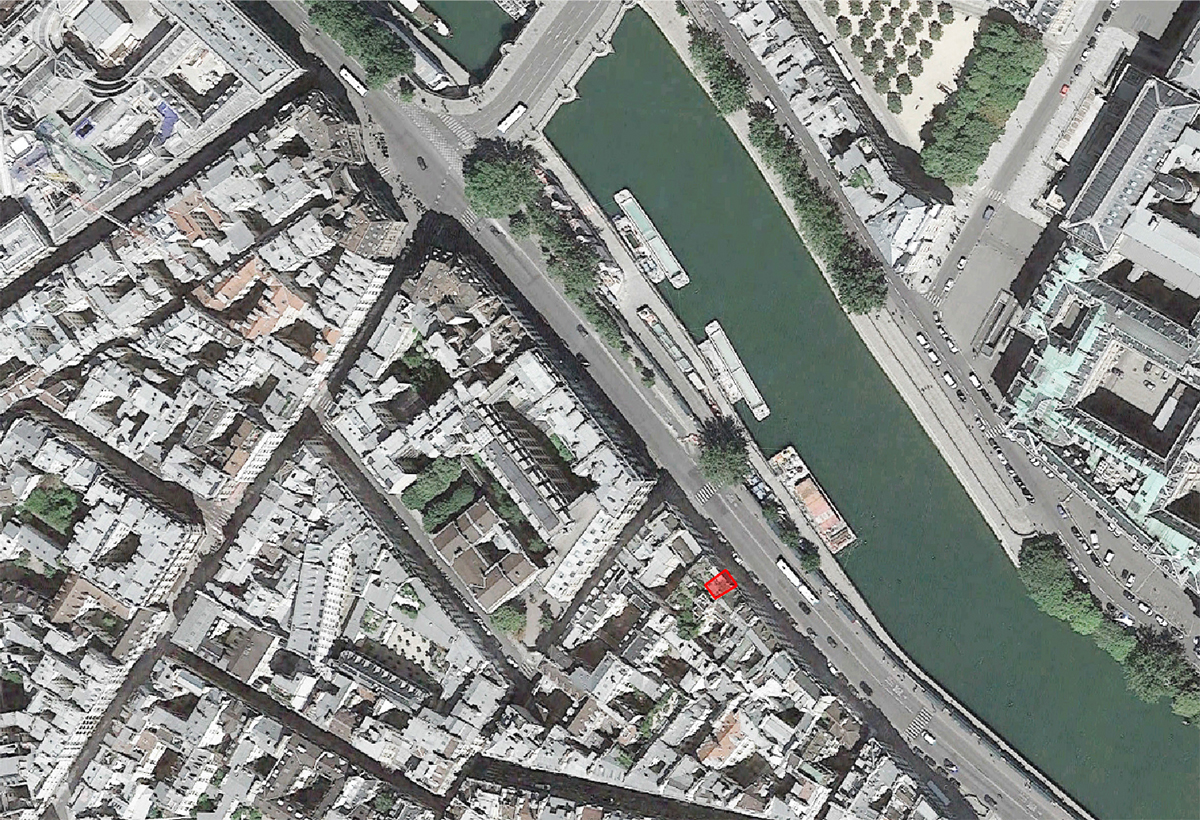 Plan de Situation. Quai des Grands Augustins